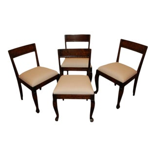 Set of Four Swedish Art Deco Neoclassical Dining Chairs For Sale