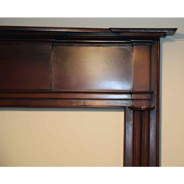 19th Century American Pine Wooden Mantel - Image 3 of 4