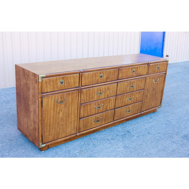 Drexel Campaign Drexel Heritage Accolade II Low 10 Drawer Dresser For Sale - Image 4 of 11