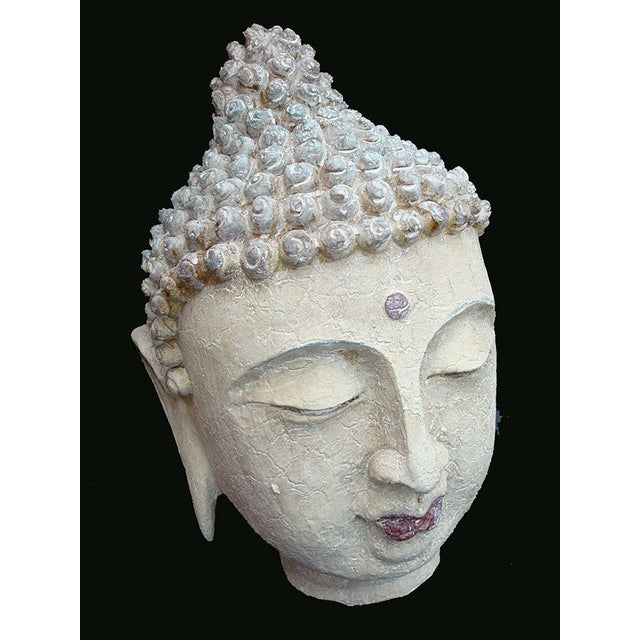 Asian Extra Large Buddha Head For Sale - Image 3 of 6