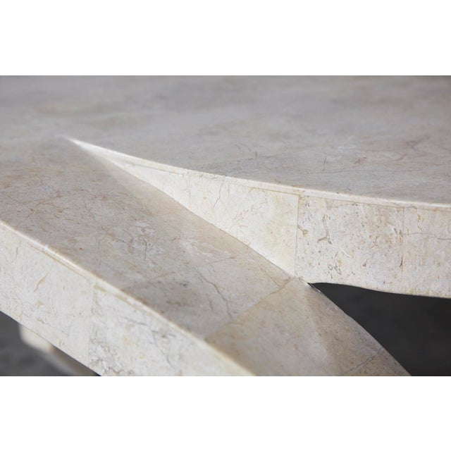 """Maitland - Smith 1990s Post-Modern Tessellated Cantor Stone """"Hurricane"""" Coffee Table For Sale - Image 4 of 10"""