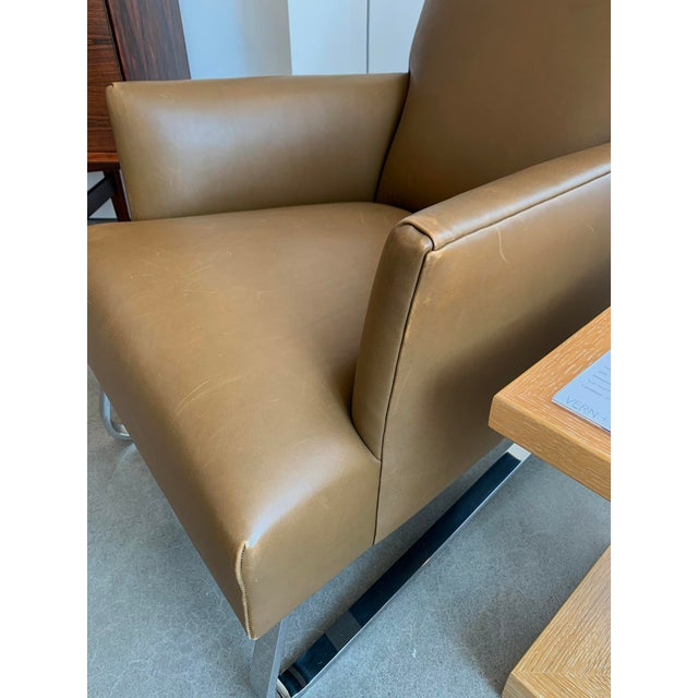 Pleasing Donghia High Back Leather Odeon Lounge Chair Evergreenethics Interior Chair Design Evergreenethicsorg