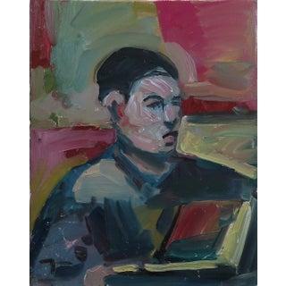 Jose Trujillo Boy Reading Portrait Man Figure Oil Painting For Sale