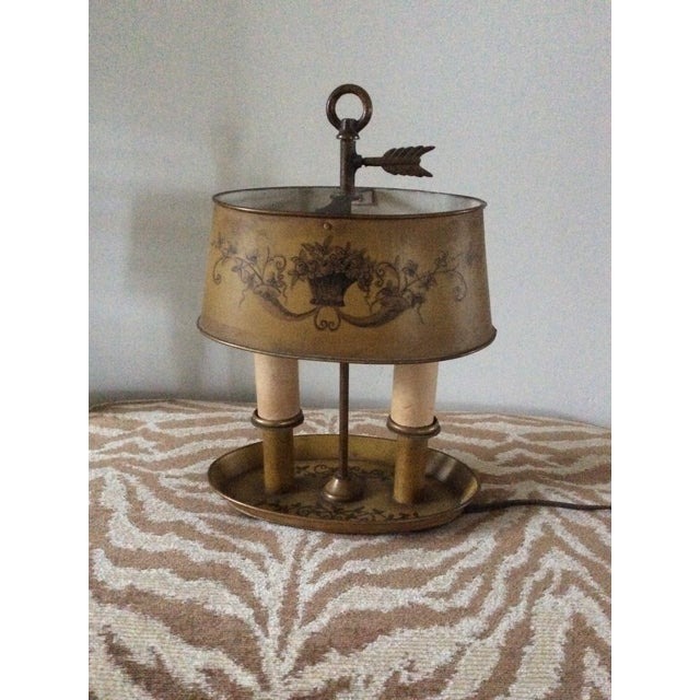 1940s Vintage French Tole Bouillotte Desk Lamp For Sale - Image 12 of 12