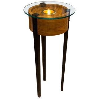 Bolivian Rosewood Lighted Pedestal For Sale
