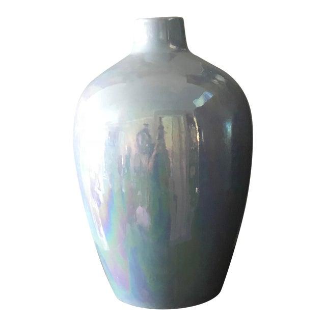 Opalescent Glaze Large Aqua Studio Pottery Vase Chairish