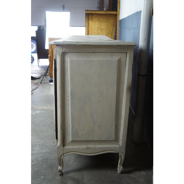 19th Century 19th Century Antique French Country Provincial White Sideboard For Sale - Image 5 of 13
