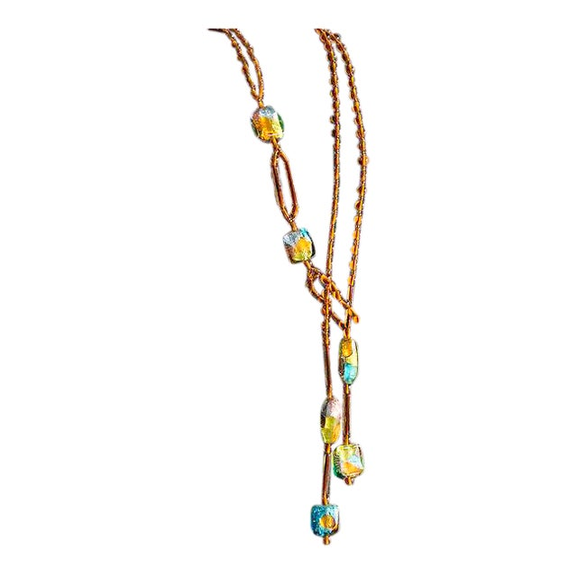 Venetian Glass Bead Necklace by Ercole Moretti For Sale