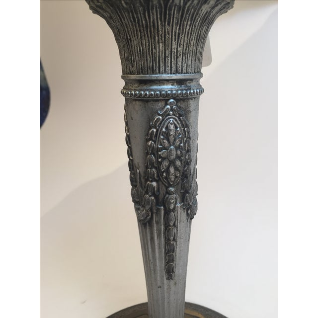 Antique Slag Lamp 1800's For Sale - Image 5 of 6