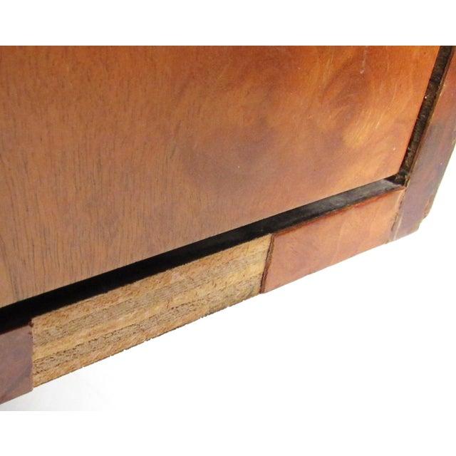 "Silver Paul Evans ""Cityscape"" Burlwood Executive Desk For Sale - Image 8 of 13"