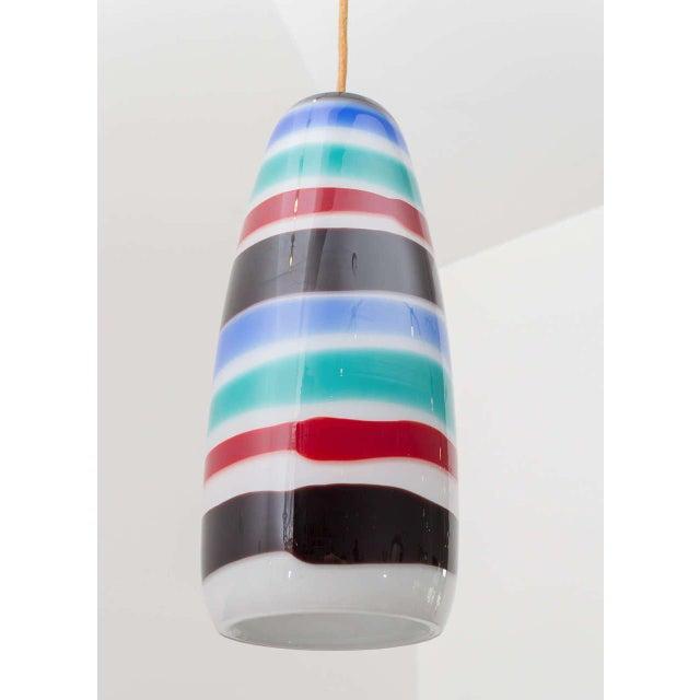 Massimo Vignelli Glass Pendant For Sale - Image 5 of 8