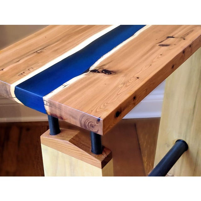 Live edge river table chairish for Table design river