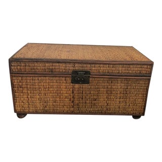 Antique Wicker Tatami Trunk For Sale