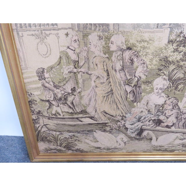 Large French Style Courtyard Tapestry For Sale - Image 4 of 5