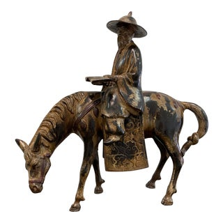 Don Quixote Sculpture on Horse For Sale