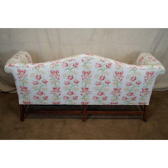 Antique Chippendale Style Mahogany Frame Sofa - Image 4 of 10
