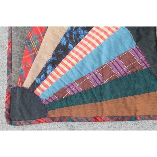19th Century Crazy Fan Quilt For Sale - Image 9 of 11