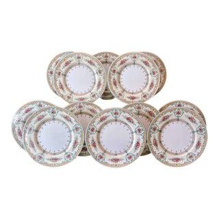 Early 1900s Wedgwood Newlyn Hand EnameledDinner Plates - Set of 12