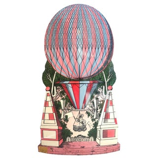 Mid-Century Hollywood Regency, Fornasetti Umbrella Stand, Hot Air Balloon Motif For Sale