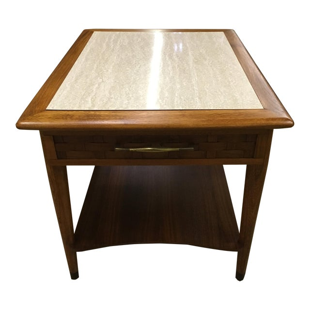Mid-Century Modern Walnut Side Table - Image 1 of 6