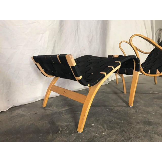 Bruno Mathsson Pernilla Lounge & Ottoman For Sale In Kansas City - Image 6 of 10