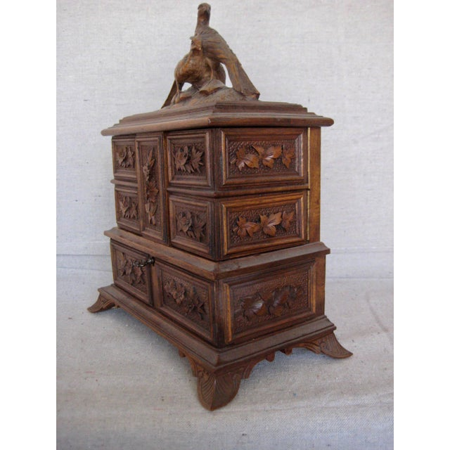 Rustic 19 Century Black Forest Jewelry Box For Sale - Image 3 of 12