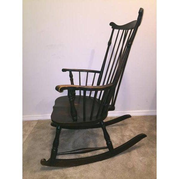 Antique Fan-Back Windsor Rocking Chair - Image 3 of 5 - Antique Fan-Back Windsor Rocking Chair Chairish