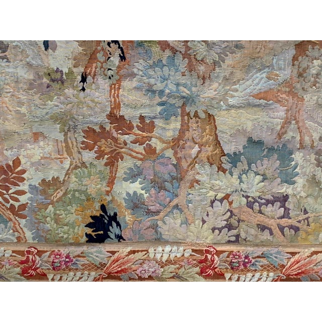 Late 19th Century French Des Bois Tapestry- 6 X 6' For Sale - Image 4 of 13