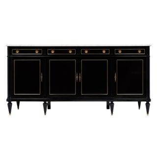 Louis XVI Style Buffet with Carrara Marble Top