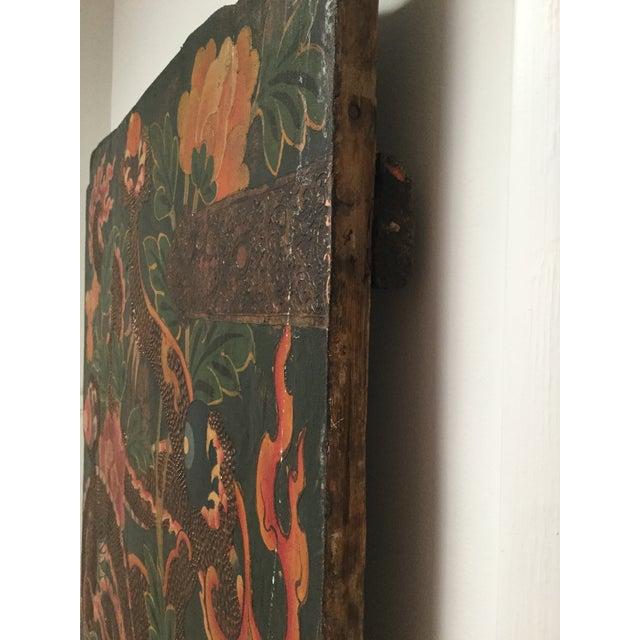 Asian Antique Tibetan Monastery Dragon Door For Sale - Image 3 of 5