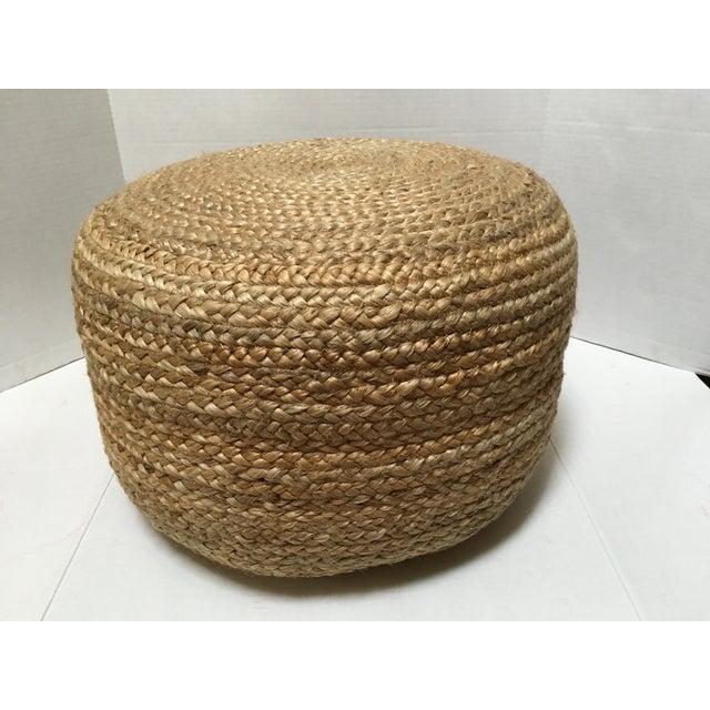 Round Jute Pouf Ottoman Chairish