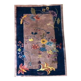 Purple Ground Art Deco Chinese Rug - 3′2″ × 4′10″ For Sale