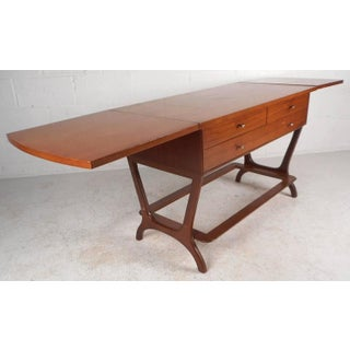 RWAY Mid-Century Modern Drop-Leaf Console Table Preview