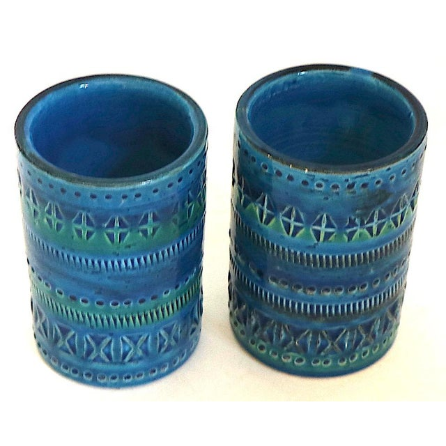 Blue 1970s Diminutive, Flavia Montelupo, Bistossi Vases - a Pair For Sale - Image 8 of 8