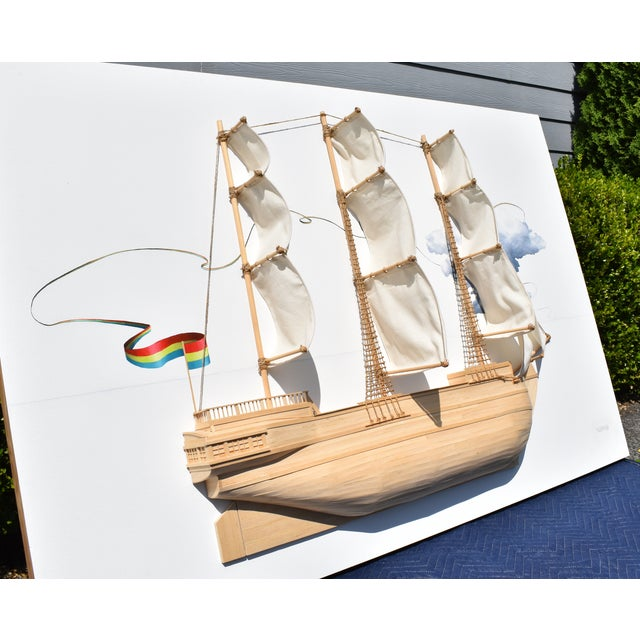 2010s Weston Jandacka 'Sail Boat No. 2' 3D Sculpture Painting For Sale - Image 5 of 13