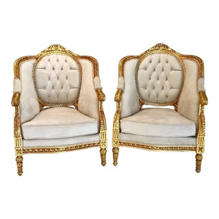 French Louis XVI Chairs - a Pair For Sale