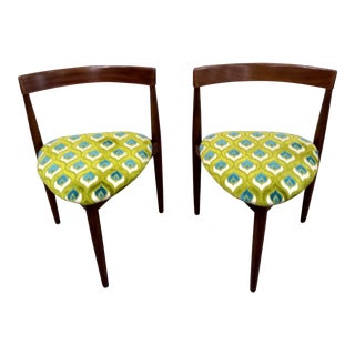 1960s Mid Century Hans Olsen Danish Chairs-Pair For Sale