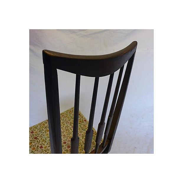 Yellow Mid-Century Reed-Back Dining Chairs - Set of 4 For Sale - Image 8 of 8