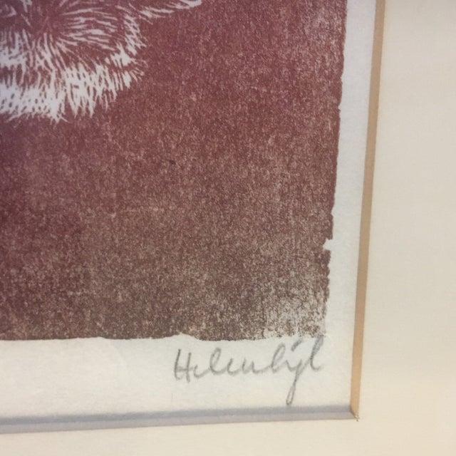 Contemporary Vintage Original Fox Lithograph For Sale - Image 3 of 6