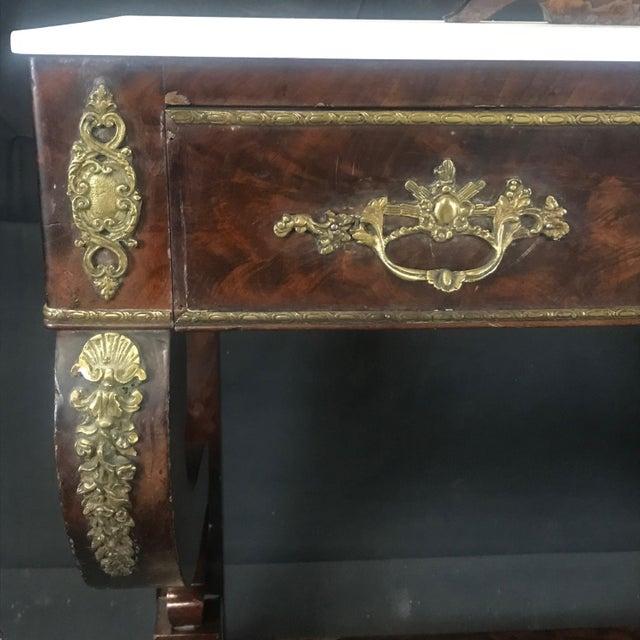 Metal Ornate Lavish Charles X Mahogany Empire Dressing Table For Sale - Image 7 of 13
