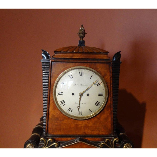 Hollywood Regency Regency Period Musical Clock Attributed to Bullock For Sale - Image 3 of 10