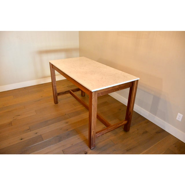White Room & Board Linden Dining Counter Bar Table For Sale - Image 8 of 9