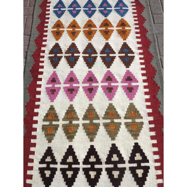 "Early 21st Century Anatolian Turkish Kilim Runner-3'1'x13"" For Sale - Image 5 of 13"