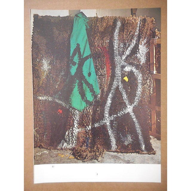 Joan Miró Vintage Mid 20th C. Quadrichrome Photographic Print-Derriere Le Miroir-Miro-Tapestry For Sale - Image 4 of 4