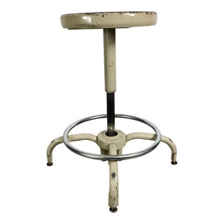 Industrial Adjustable Multi Position Metal Stool by Ajusto For Sale
