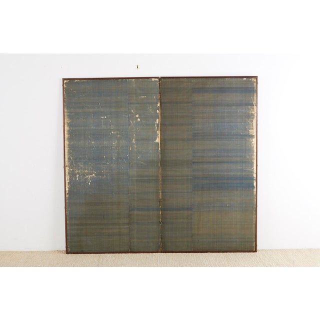 Japanese Edo Bugaku Imperial Court Dance Two-Panel Screen For Sale - Image 12 of 13