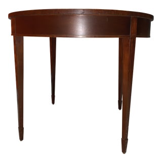 Vintage Baker Round Sunburst Flame Mahogany Table For Sale