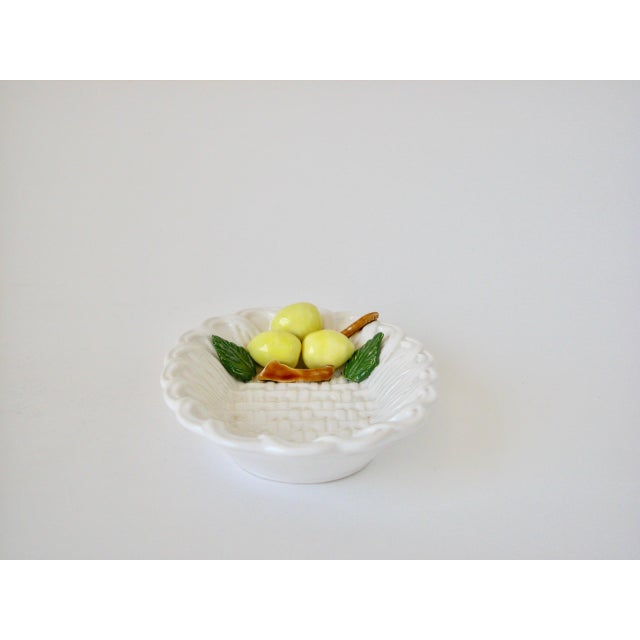 Ceramic 1970s Traditional Majolica Braided Lemon Ceramic Dish For Sale - Image 7 of 10