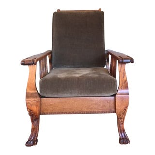 Vintage Morris & Co. Reclaimed Oak Chair For Sale
