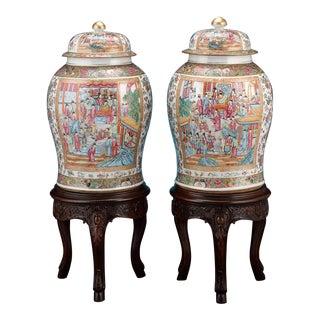 Chinese Rose Medallion Vases